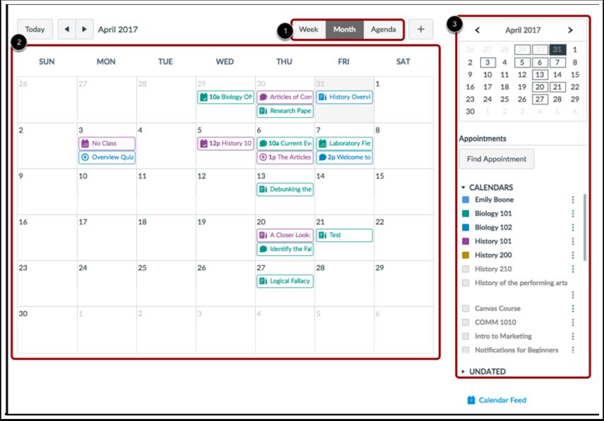 Visualizar Calendário