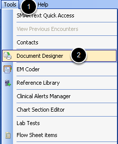 Access Document Designer