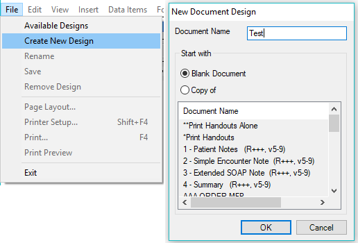Create the Temporary Design