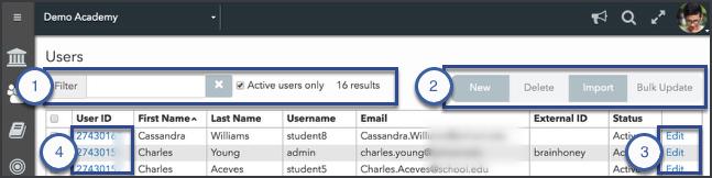 Users tool