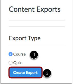 Seleccionar el tipo de exportación