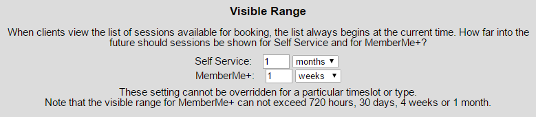 Visible Range