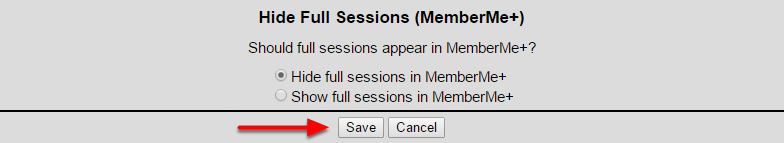 Hide Full Sessions (MemberMe+)