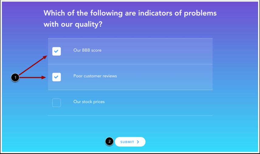 Voir le questionnaire à réponses multiples