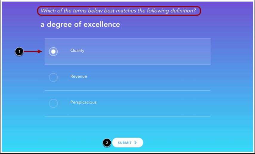 Voir le questionnaire de vocabulaire