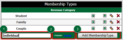 Create Membership Type