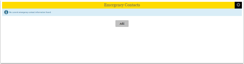 Emergency Contacts Add button