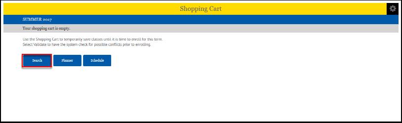 Shopping Cart Search button