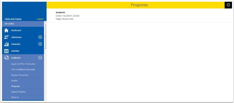 Programs page