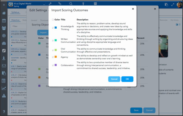 Enable Multi-Outcome Scoring in your course
