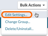 Bulk Actions > Edit Settings...