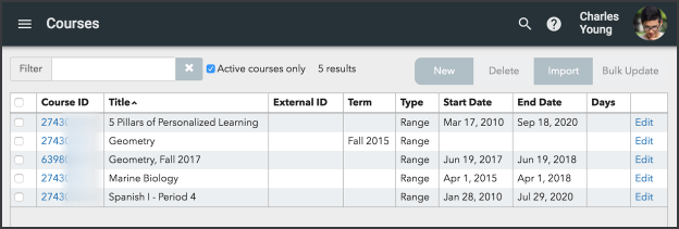 Copy an existing course