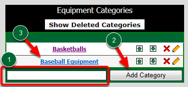 Equipment Categories