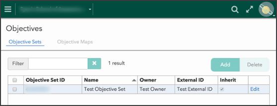 1) Create an objective set