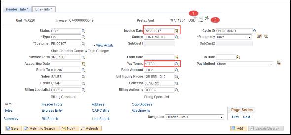 Header Info 1 tab