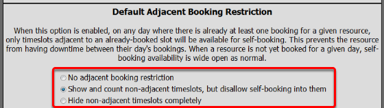 Adjacent Booking Options