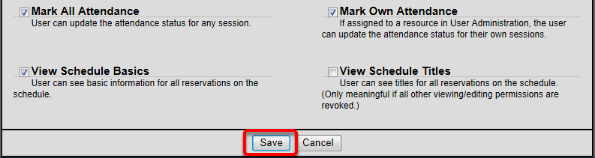 Customize Permissions and Save