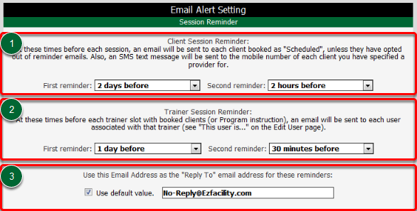 Session Reminders