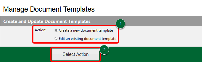 Manage Document Templates