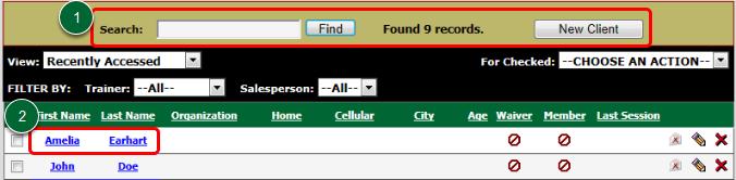 Select a Client
