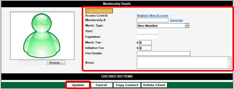 Membership Details