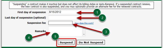 Suspension Options