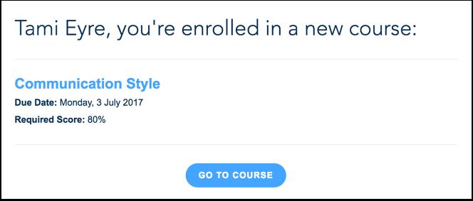 Voir les notifications de cours