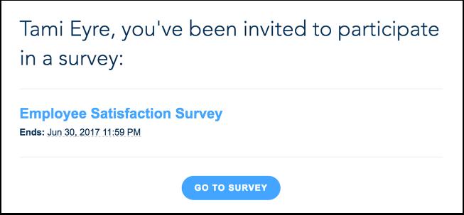 Voir l'invitation à une enquête
