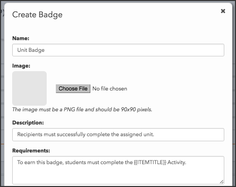 Personalize badges with replacement variables