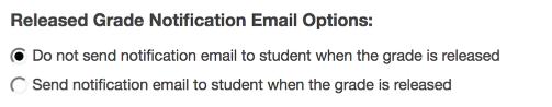 Released grade notification.
