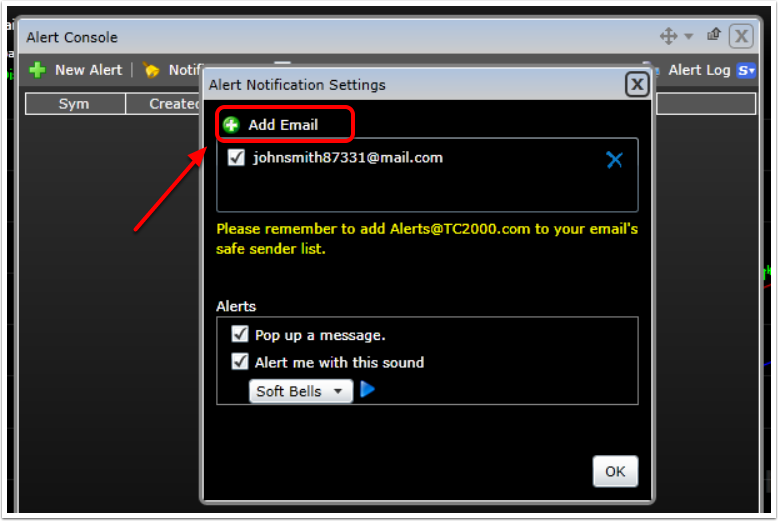3. Click on Add Email.