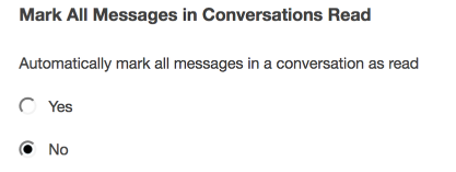 "Choose if messages are marked ""read""."
