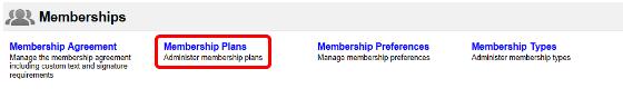 Membership Administration