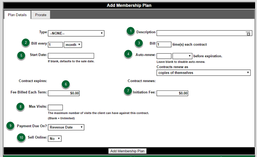 Membership Plan Options
