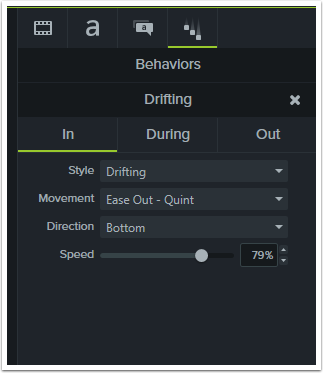 Change the effects settings