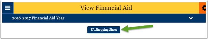 FA shopping sheet button