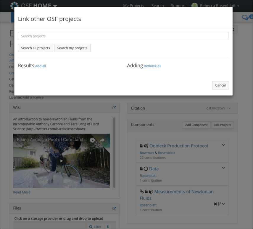 Linking Projects