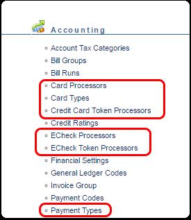 Electronic Payment Setups
