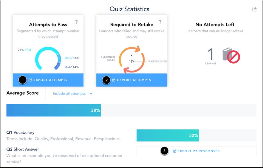 Exporter les fichiers CSV des statistiques du questionnaire