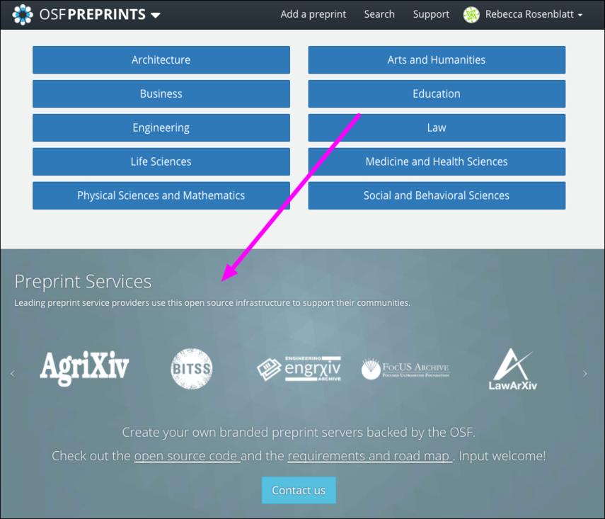 Community Preprint Servers