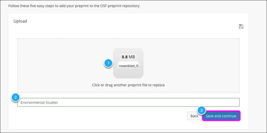 Upload a New Preprint