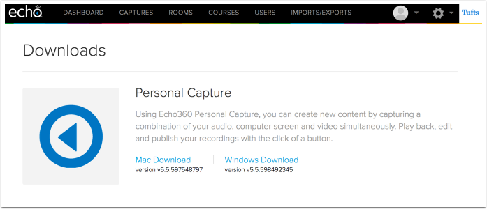 Download the Personal Capture software.
