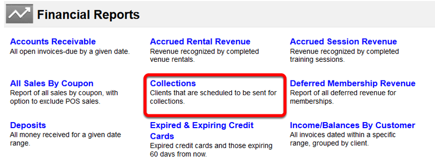 Billing Status - The Collections Report