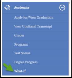 Academics menu