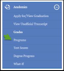 Academic menu