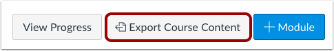 Export Course Content