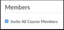 Invitar Miembros del curso
