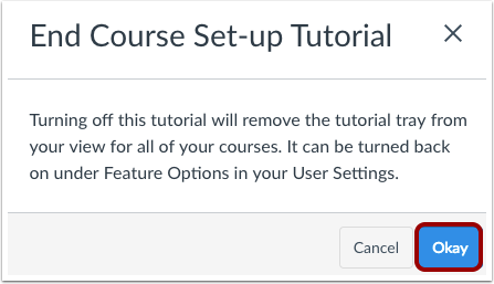 End Course Set-up Tutorial