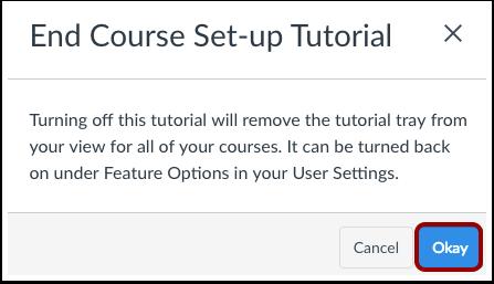 End Course Set-up Tutorial
