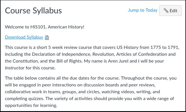 View Syllabus